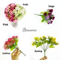 AF10 BUNGA MAWAR KECIL ARTIFISIAL ROSE ARTIFICIAL FLOWER DEKORASI KAFE - Pink