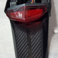 Spakbor belakang Honda CRF 150 stoplamp Led hitam
