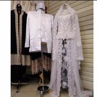 Kebaya pengantin akad - baju pengantin hijab - dress pengantin - akad