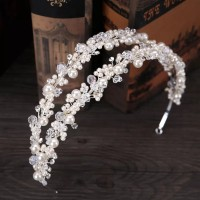 Mahkota bando tiara wedding hiasan rambut pesta pengantin CC353
