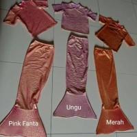 Kostum Mermaid Setelan tangan pendek/Baju putri duyung anak