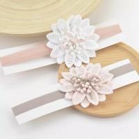Newborn Baby Girls Big Flower Headband Headware/ bando bayi