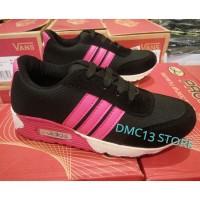 Sepatu sekolah anak-anak Adidas Airmax black pink Fanta DMC13 edition