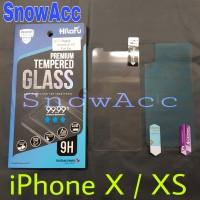 Hikaru Anti Gores Tempered Glass iPhone X / XS free screen belakang