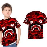 kaos baju anak bape red camo fullprint sublimation