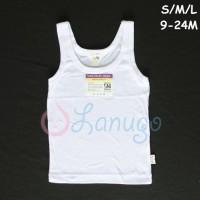 LIBBY 1 Pcs Singlet/Kaos Dalam Polos Bayi/Baby Putih S,M,L (Kecil)