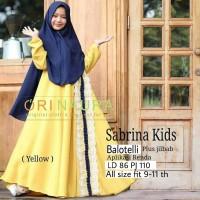 Sabrina kids /baju gamis anak perempuan usia 9-11 tahun