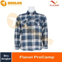 kemeja Flanel ProCAMP navy dongker baju flannel gunung outdoor travel