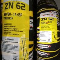 Ban Zeneos 80/80-14 Dan 90/18-14 Paket Depan Belakang Tubeless ZN 62
