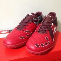 Sepatu Futsal Lotto Squadra In Dark Red White L01040011 Original Bnib