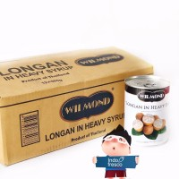 Wilmond Longan Canned- Buah Kelengkeng kaleng- 1dus KHUSUS GOSEND