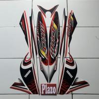 Striping Stiker Motor Mio J 2013 Hitam-Merah