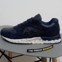 Size 40 - 46 Sepatu Asics Tiger Gel Lyte V Navy Dark Blue - Brown