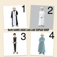 BARANG TOP BAJU JUBAH ANAK LAKI ATAW GAMIS ANAK LAKI USIA 1 THN -10