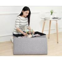 Sofa Bangku Kotak Penyimpanan Barang Box Organizer 50x30x30cm - Gray