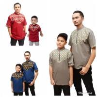 Baju Koko - Baju Seragam Muslim - Baju Koko Couple Anak Ayah Songket