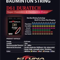 Senar Bulutangkis Kizuna D 61 Badminton String Original made In Japan