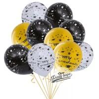 Balon latex motif graduation / balon latex wisuda / balon katret toga