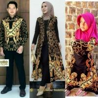 Couple Longcardi Batik Set Anak Cewek Baju Seragam Batik Keluarga