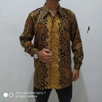 Atasan Kemeja Joya Batik Lengan Panjang Trendy Pria Ukuran M-XL