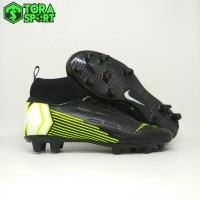 Sepatu Bola Anak Nike Mercurial Vapor Boot Hitam Strip Hijau Grade Ori