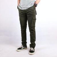 Celana Cargo Panjang Slimfit Premium Army | Celana Pria | Cargo Pants