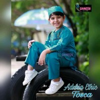 Baju Koko Etnik Tangan Panjang Bahan Katun adem / Pakaian Muslim Anak