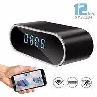 HD WIFI IP Mini Spy Hidden Camera Alarm Table Clock Motion-Spy jam
