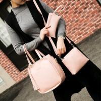 Tas Wanita Bucket Bag 3 In 1 Tas Batam Import