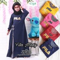 Baju Terusan Anak perempuan Muslim Fila Maxy Kisd Ellyn