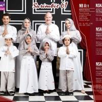 Baju Couple Keluarga Pasangan Muslim Sarimbit Family/Nibras61 White