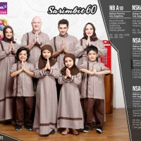 Baju Couple Keluarga Pasangan Muslim Sarimbit Family/Nibras60 Coklat