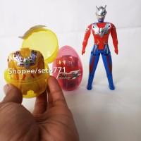 Ultraman Egg Orb Zero X Mainan Anak Figure Plastik Lipat Dalam Telor