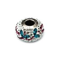 Perhiasan Liontin Kalung Charm Swarovski - Pave Fleur by AR Hestia