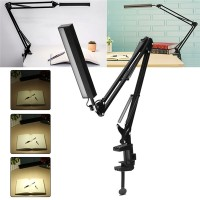 NEW ! 5W Long Arm Clip Touch Dimmable LED Table Desk Lamp USB Reading
