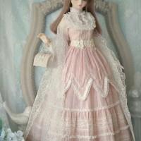 BJD clothes Afternoon tea SD13 1/3 size bjd doll pink girl dress