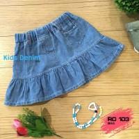 rok jeans mini anak