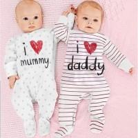 4pc@28.5 Babeebabyshop i love MOMMY DADDY jumper bayi jumper anak