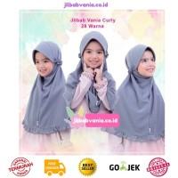Jilbab anak vania curly lamia mawadah All size untuk usia 4 8 tahun