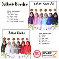 Seri Warna Netral Jilbab instan serut Bordir anak sekolah SATU UKURA