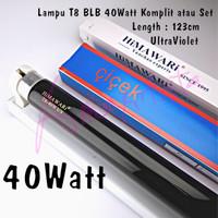 Lampu T8 Uang UV Ultraviolet BLB 40watt komplit / Set 123cm 220V