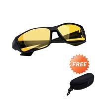 Kacamata Motor Berkendara Night Driving Glasses AAA - Free Hardcase