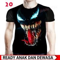 Baju Kaos Venom 3d Fullprint - Kaos Superhero Anak dan Dewasa