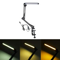 Top Brand 6W Flexible Long Arm Clip Dimmable USB Desk Table Lamp