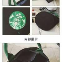 Grosir Tas Starbucks Kanvas Model Tabung - Tote Bag Canvas Elegan
