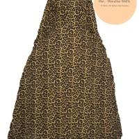 Gamis Leopard Motif Macan XL dan XXL Monalisa - Cokelat Baju Gamis