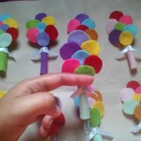 amplop lebaran flanel bentuk balon untuk lebaran, imlek, natalan