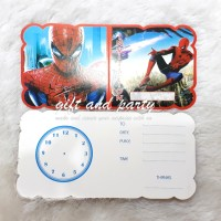 Kartu Undangan Spiderman / Undangan Ultah / Undangan Ulang Tahun
