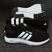 Sepatu Adidas Zoom Neo Climacool Running Import / Pria Black White