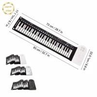 piano Portable 49 Keys Flexible Roll Up Piano Electronic Soft Keyboard